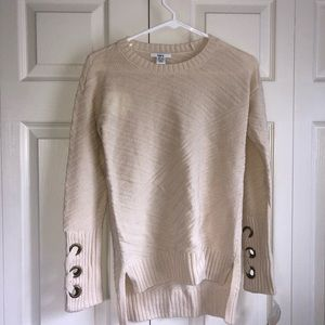 NWT bar III Lace Up Sweater